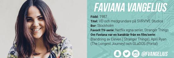 Snabba frågor med Faviana