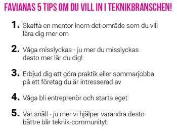 Favianas tips till unga tjejer