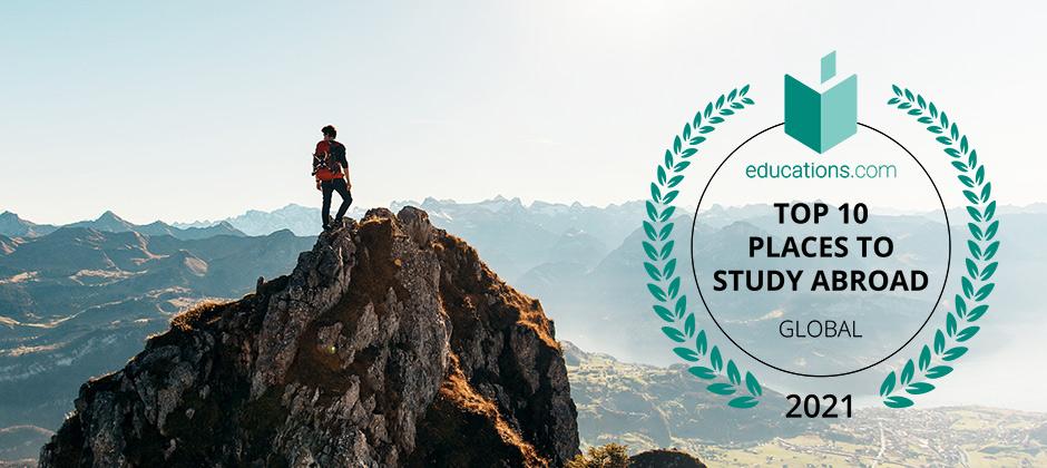 Mountaintop and Badge Top 10 Global 2021