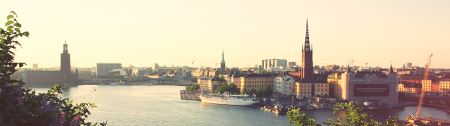 Study in Europe - Stockholm skyline
