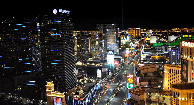 A shot of the Las Vegas strip