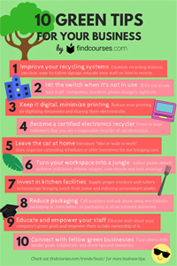 10 Green Tips For Your Business - Infographic
