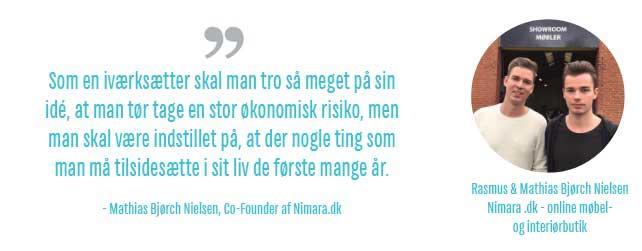 ee42da2ba9c Ungt iværksætteri Mathias Bjørch Nielsen, Nimara.dk - Vores bedste råd til unge  iværksættere