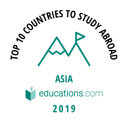 Top 10 Countries to Study Abroad - Asia badge