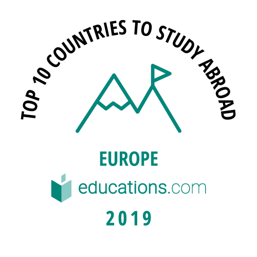 Top 10 Countries to Study Abroad - Europe badge