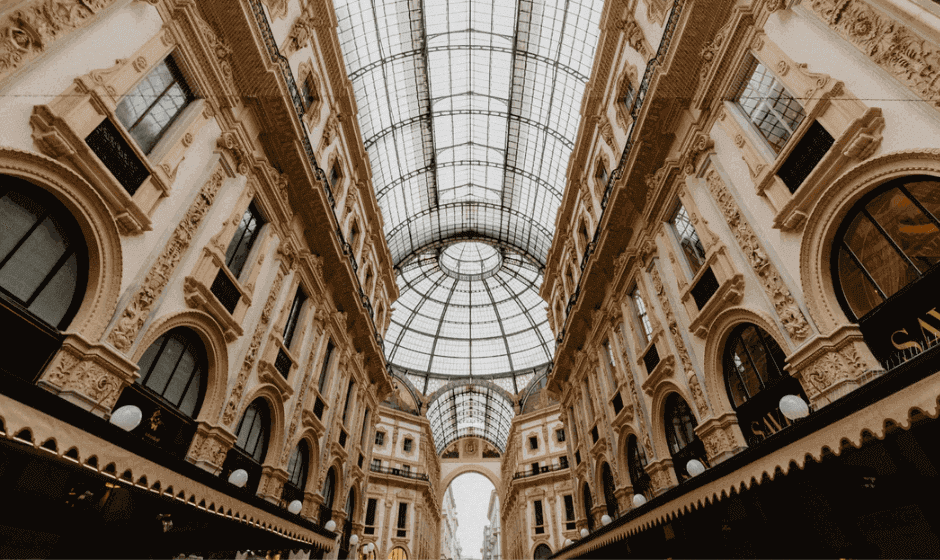 Atrium of the Galleria Vittorio Emanuele II in Milan