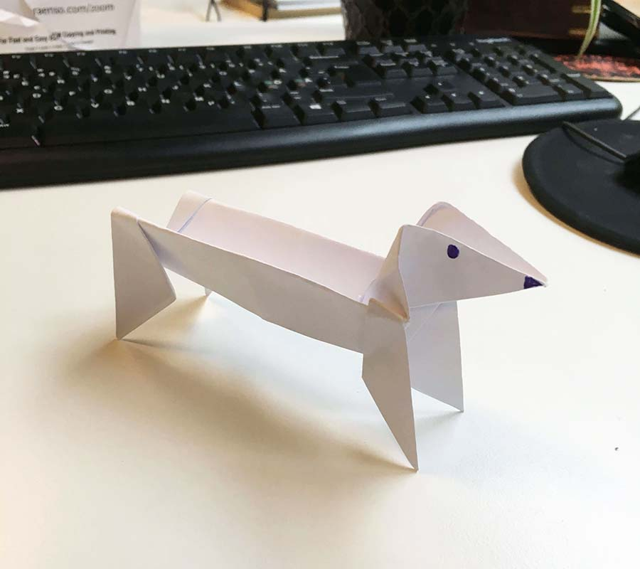 Origami Dog Face | 800x900