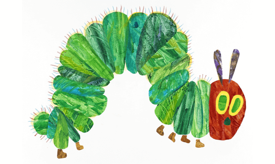 Illustration of the Very Hungry Caterpillar