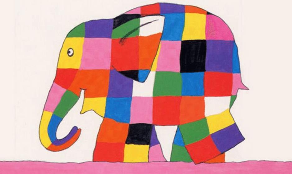 Illustration of the Patchwork Elephant