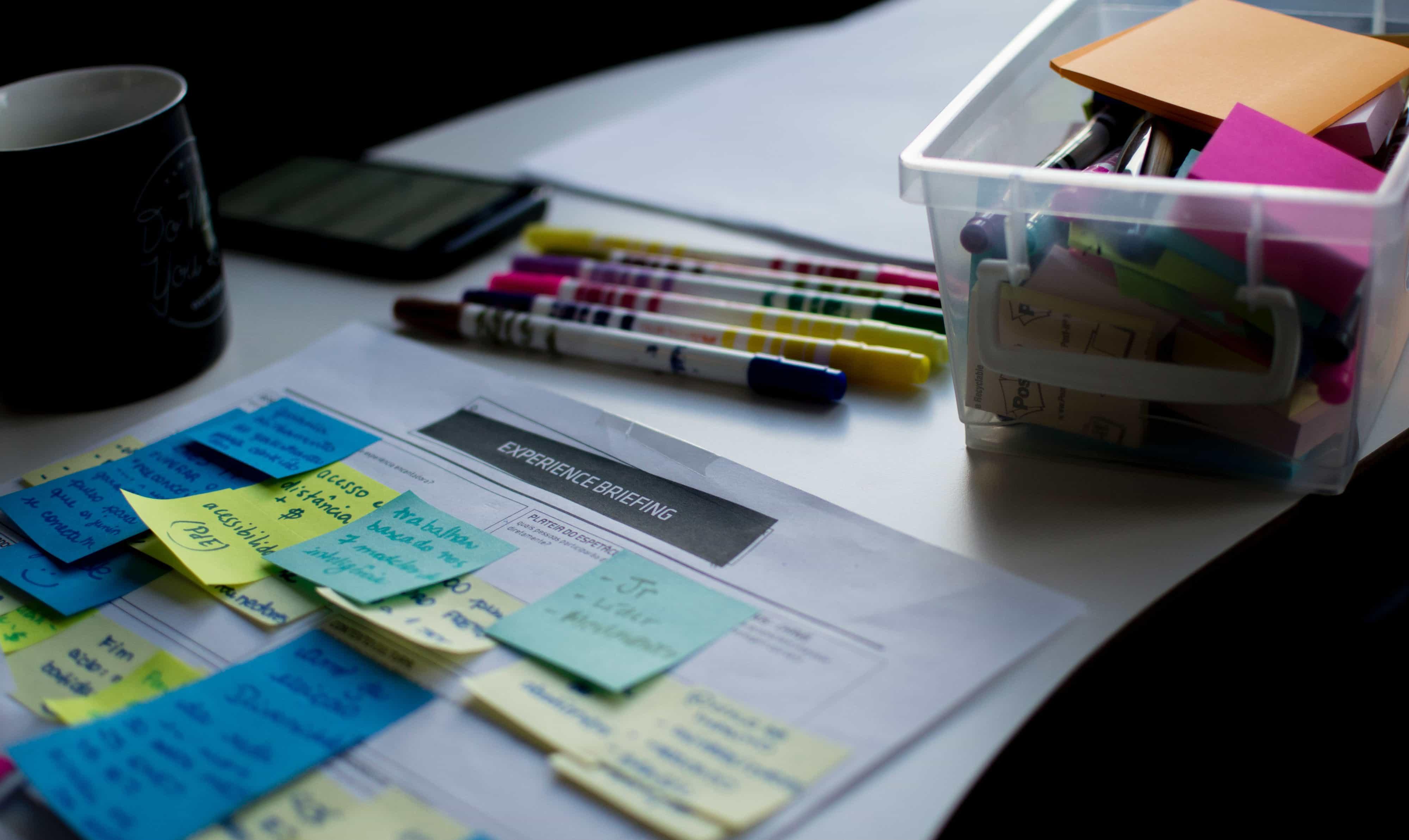 sticky note plan