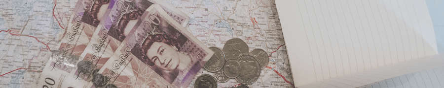 image of money laid on top of a map