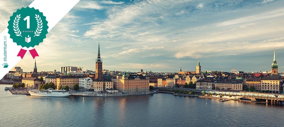 Stockholm är Sveriges bästa studentstad 2021