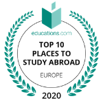 educations.com Top 10 Europe rankings 2020 badge