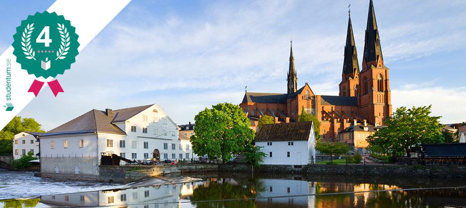 Uppsala är Sveriges sjunde bästa studentstad 2021