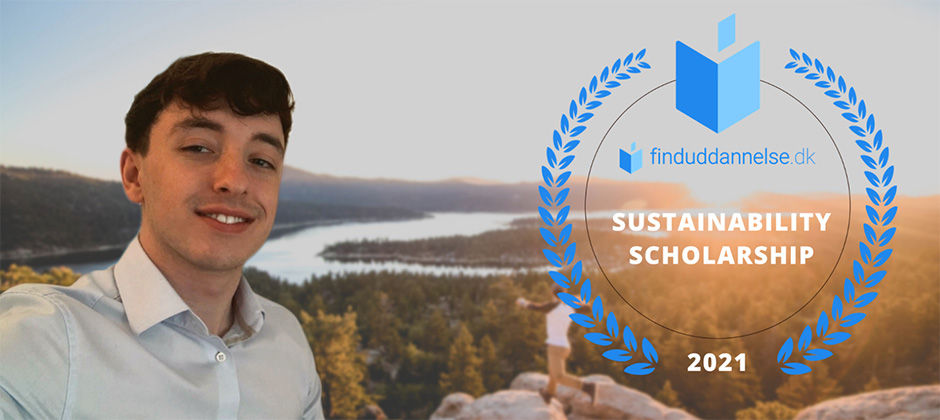 Barry McLaughlin, the winner of finduddannelse.dk's Sustainability Scholarship 2021