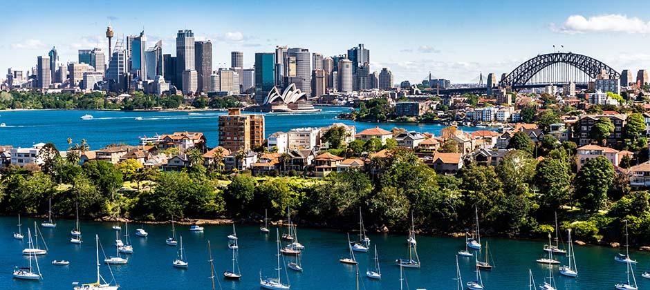 Stadsvy över Sydney