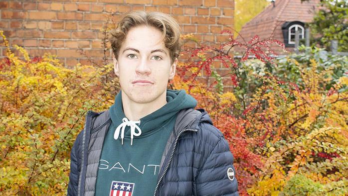 Marcus från Hagströmska gymnasiet i Falun