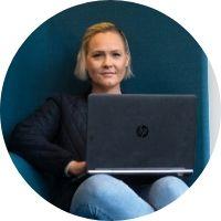 Ann Karma Wessel, Student på HF ...
