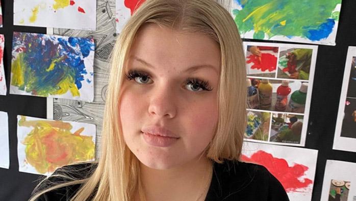Maja studerar på Barn- och fritidsprogrammet