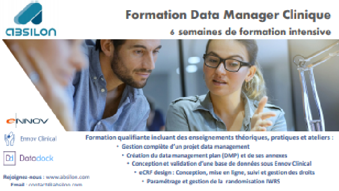 Brochure formation Data Manager ...