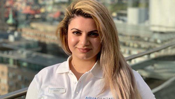 Så fick Armine jobb som tandsköterska bland specialister och akuttandläkare