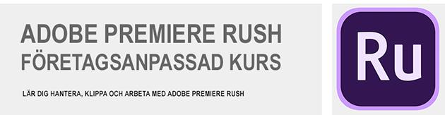 Premiere Rush CC utbildning
