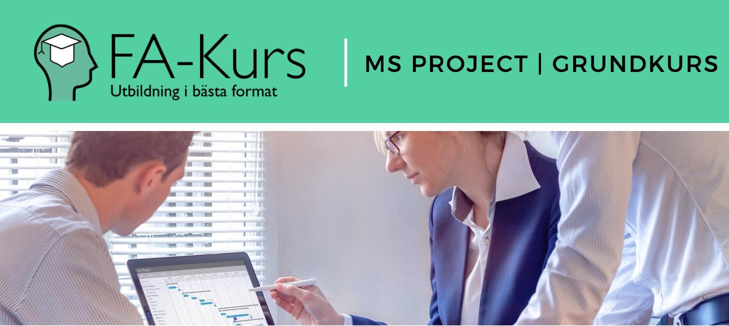 MS Project   FA-Kurs   1 dag   Förtagsanpassad