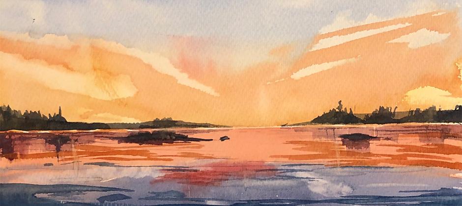 Himmel och hav – motivkurs i akvarell