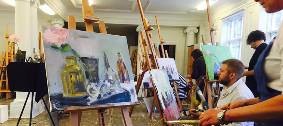 Grundkurs i akrylmåleri
