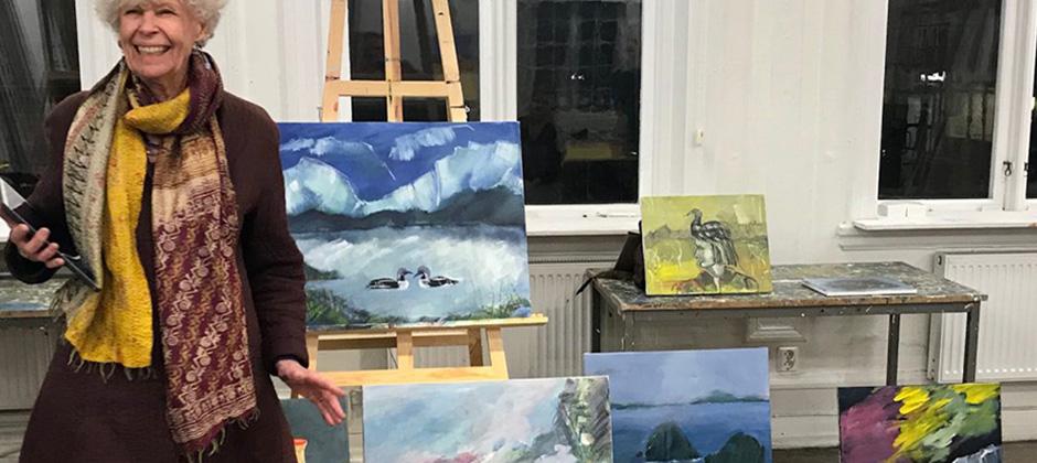 Fördjupningskurs i akrylmåleri
