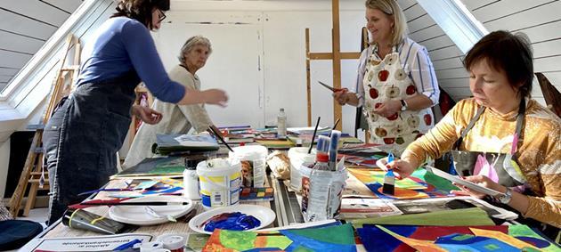 Fortsättningskurs i akrylmåleri