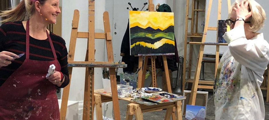 Expressiva Landskap, kurs i akrylmåleri