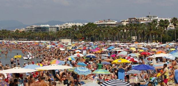 Tourism massification in Salou Tarragona