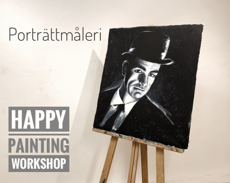 workshop målarkurs porträtt