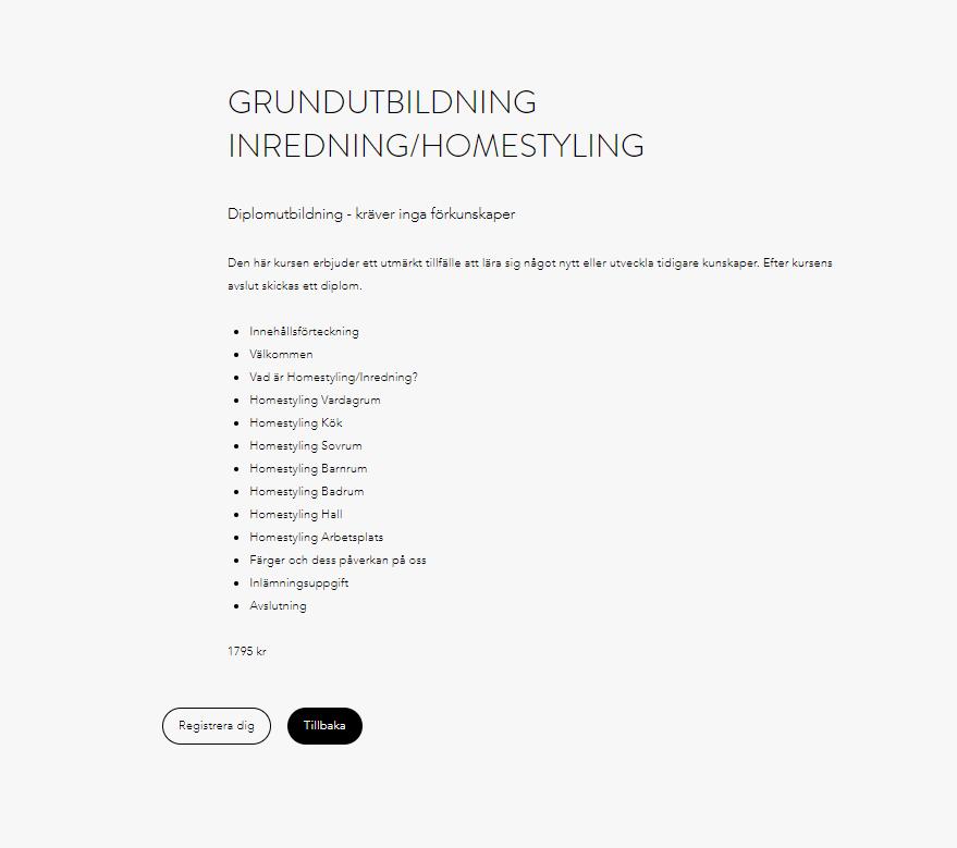 Inredning/Homestyling