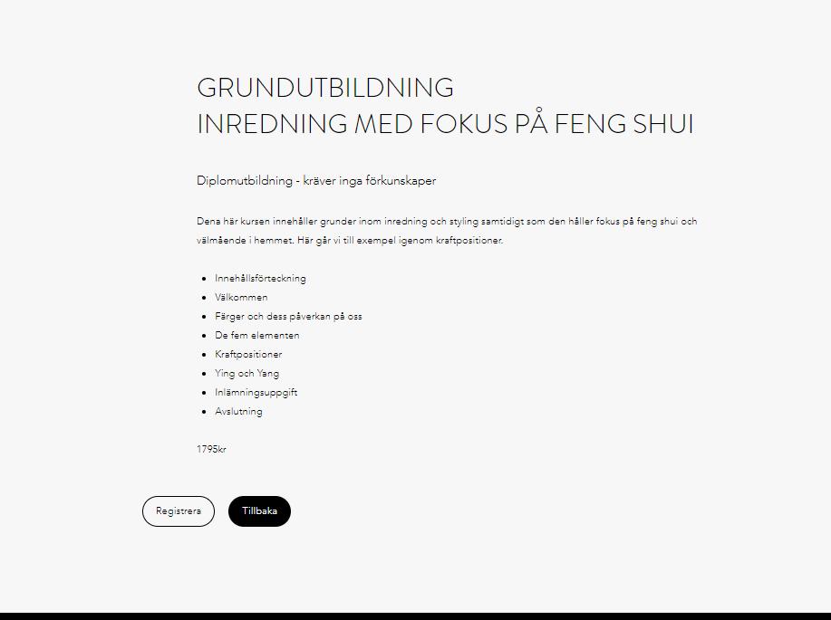 Diplomkurs - Inredning/Feng Shui