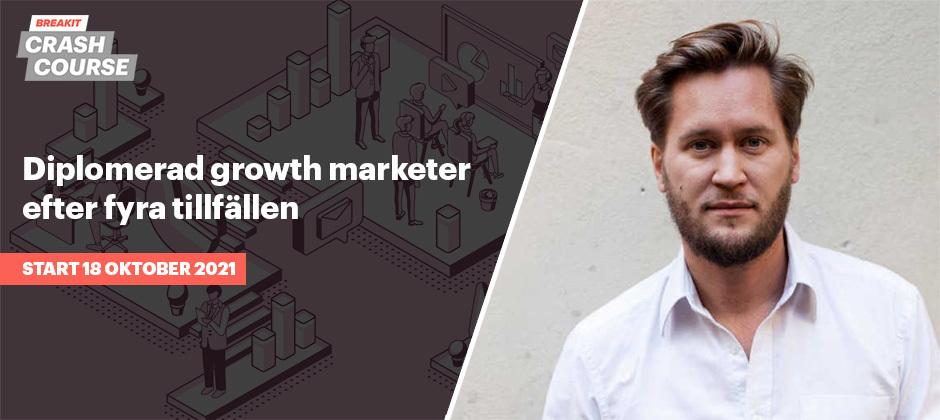 Diplomerad growth marketer efter fyra tillfällen – kurs i digital marknadsföring med Erik Modig