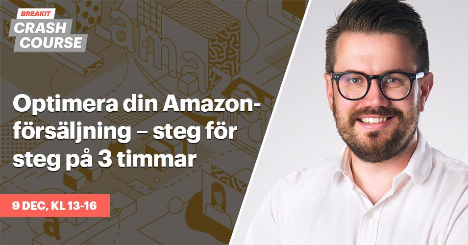 Optimera din försäljning på Amazon – introkurs på 3 timmar