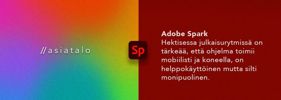 Asiatalon Adobe Sparkin etäkoulutuksen esittelykuva.