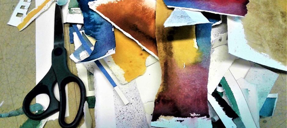 Akvarell och collage