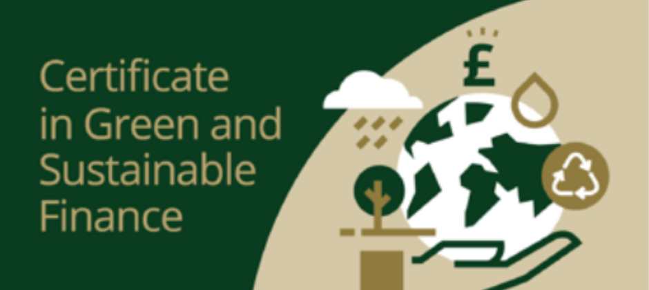Certificate in Green and Sustainable Finance image