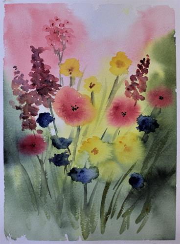 Måla blommor vått-i-vått