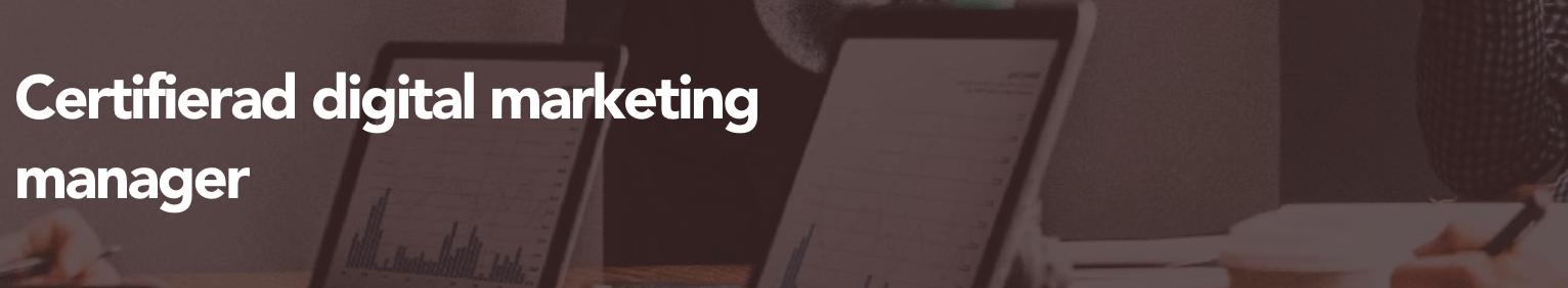 Certifierad digital marketing manager