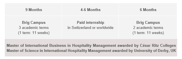 Opbygning på MSc in International Hospitality Management