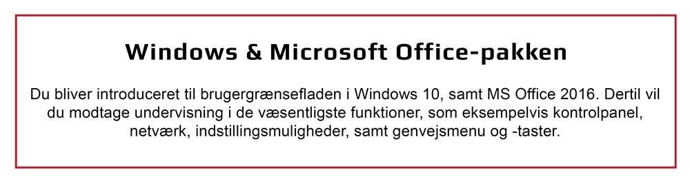 Windows 10 og Microsoft Office-pakken (Office 2016)