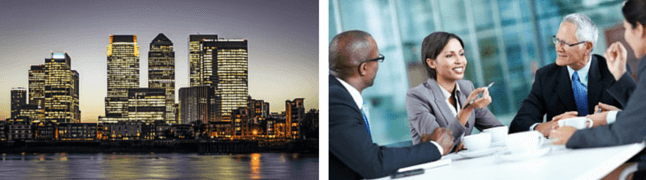 Buildings, business people-London Corporate Training