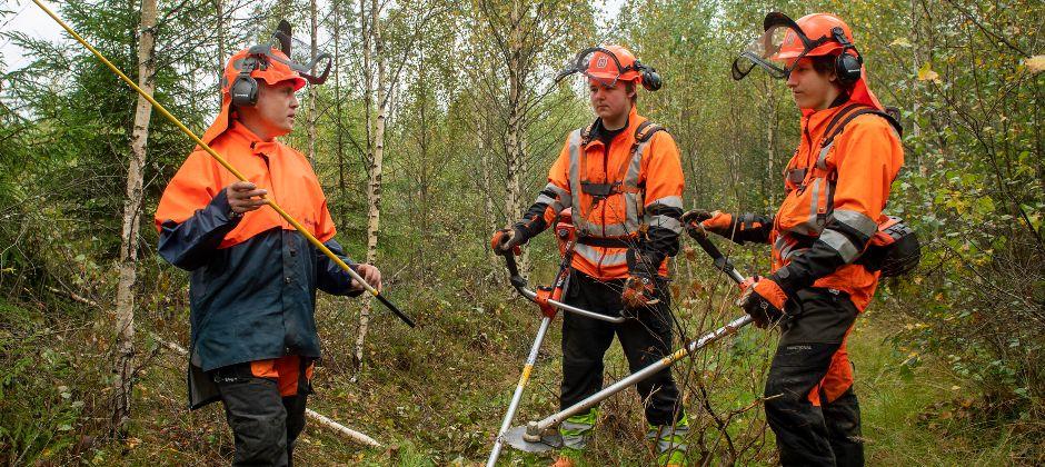 Naturbruksprogrammet, Skogsmaskinförare / Skogs- och viltvårdare