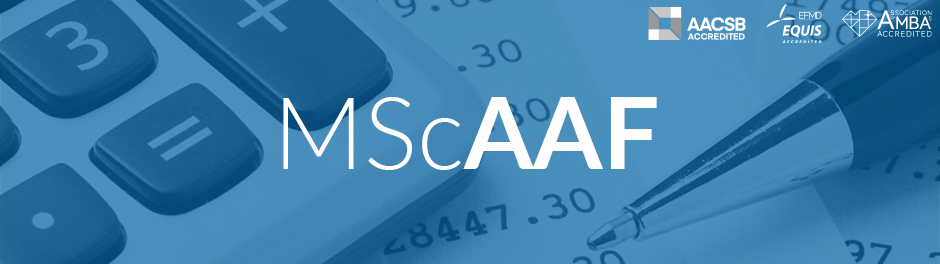 MSc in Applied Accounting and Finance (MScAAF)