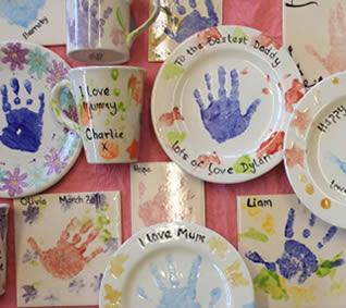 keramik hand fot avtryck bebis baby