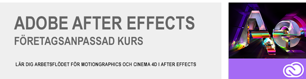 After Effects Företagsanpassad